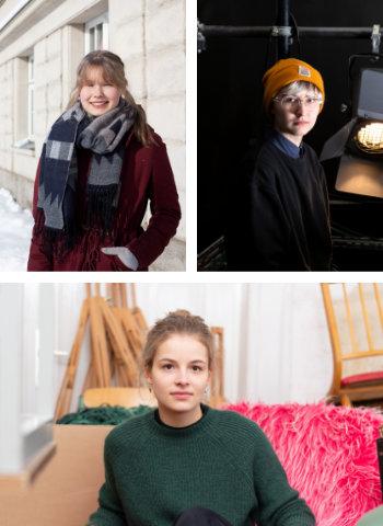 Porträtfotos Friederike, Agnes, Anna